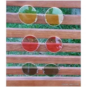 Akiniai nuo saulės apvalūs spalvoti