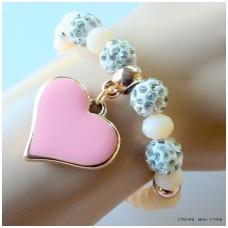 Apyrankė su širdele, rožinė
