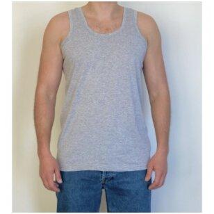 Marškinėliai apatiniai vyriški, be rankovių