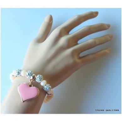 Apyrankė su širdele, rožinė 3
