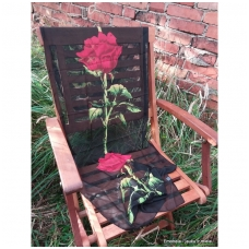 Lengvas šalikėlis Raudona rožė, juodas