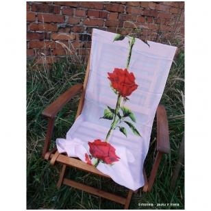 Lengvas šalikėlis Raudona rožė, rožinis