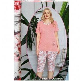 Pižama AGNUTĖ, trumpa, 2 dalių rožinė