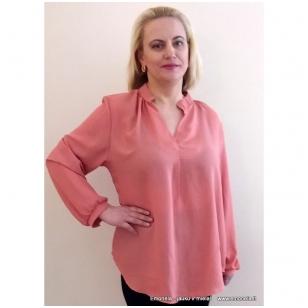 Rožinė palaidinė Secret ilgomis rankovėmis
